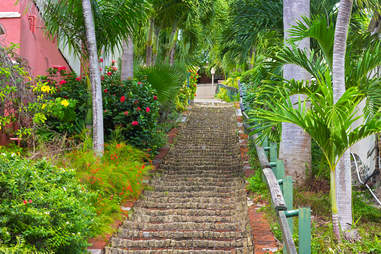 The 99 steps in Charlotte Amalie, St. Thomas
