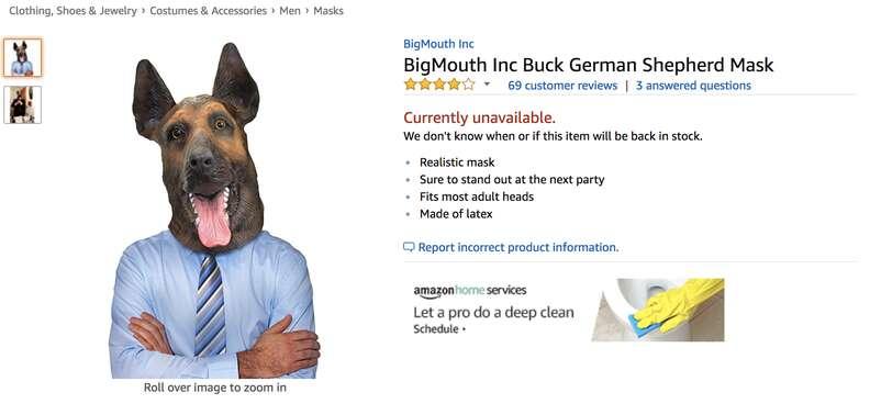 philadelphia eagles dog mask