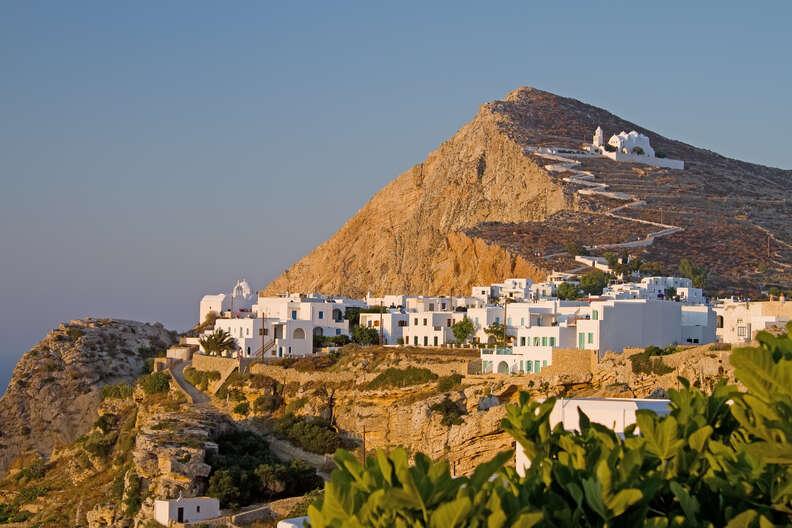 Chora on Folegandros island, Greece