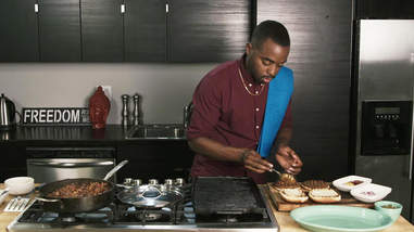 ayinde howell like a vegan cooking channel