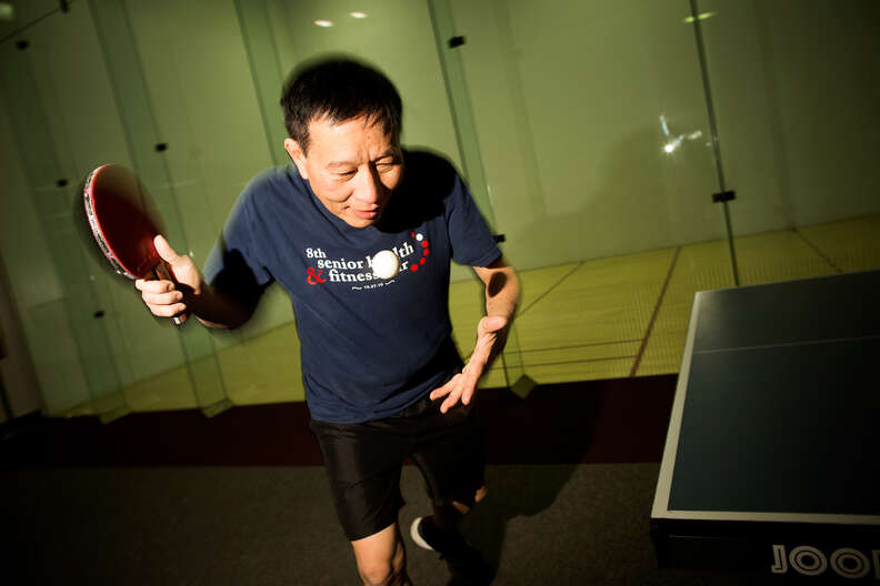 Ping-pong player in Loma Linda, CA