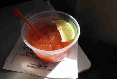 bloody mary on plane