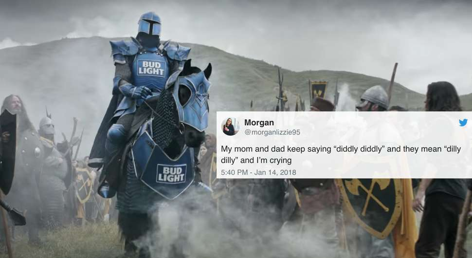 Dilly dilly best tweets about bud lights super bowl commercial youtubebud light mozeypictures Images