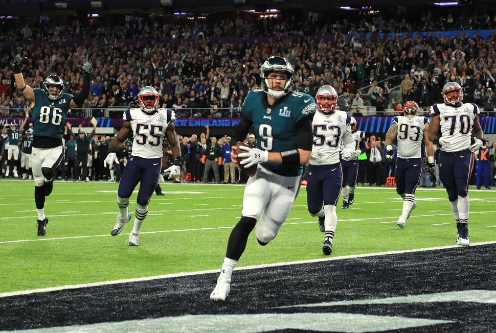 super bowl lii nick foles td catch