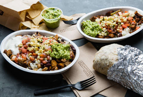 chipotle menu items