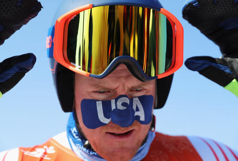 Winter Olympics face tape