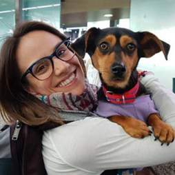 Figure skater Meagan Duhamel with dog Moo-tae