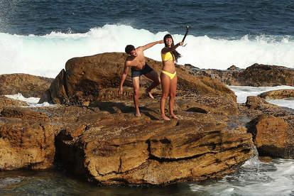 couple on rock