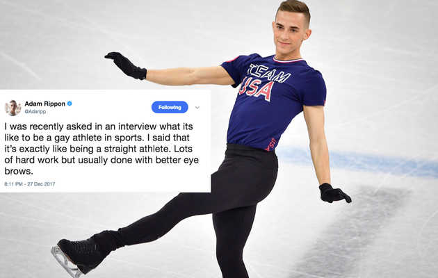 Adam Rippon's Hilarious Tweets Deserve All the Gold Medals
