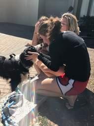 Therapy dog Kermit helping comfort survivors of Parkland, Florida, school shooting