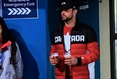 Olympic Curler's Husband Double-Fists Beers During Her 9am Match