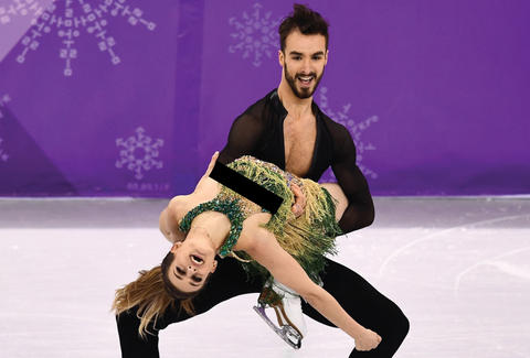 Winter Olympics 2018 Ice Dancers Overcome Wardrobe Malfunction Gabrielle Papadakis