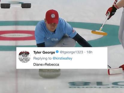 curling feud kirstie alley