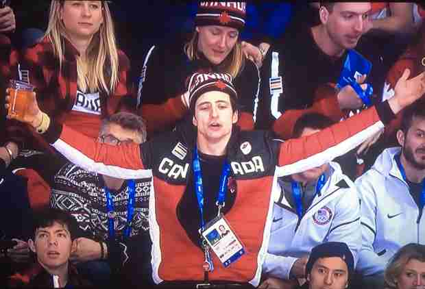Beer-Wielding Olympian Became an Outstanding Meme During a Hockey Game