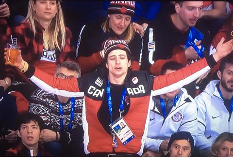 scott moir at hockey game