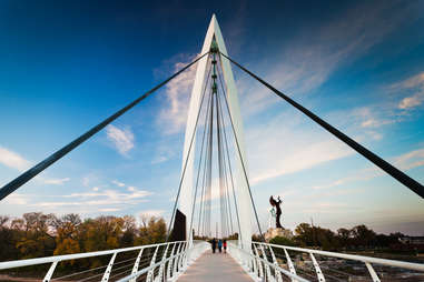 Keeper of the Plains footbridge