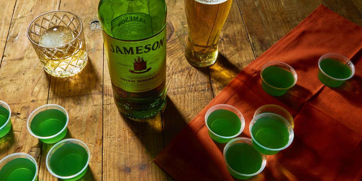 Green Jameson Jello Shot