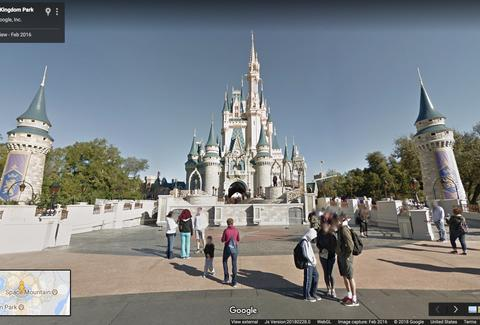 Google Disney Street View