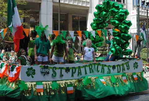 st patricks float