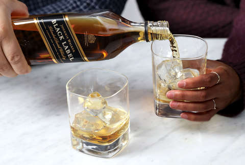 Johnnie Walker Black Label Scotch on the Rocks - Supercall