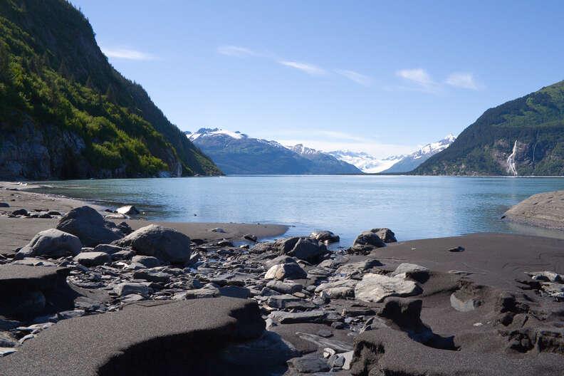Black Sand Beach, Prince William Sound, Alaska