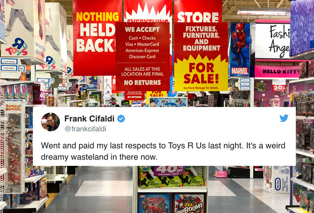 Toys R Us Closing Sign : Toys r us is closing stores and the social media reactions
