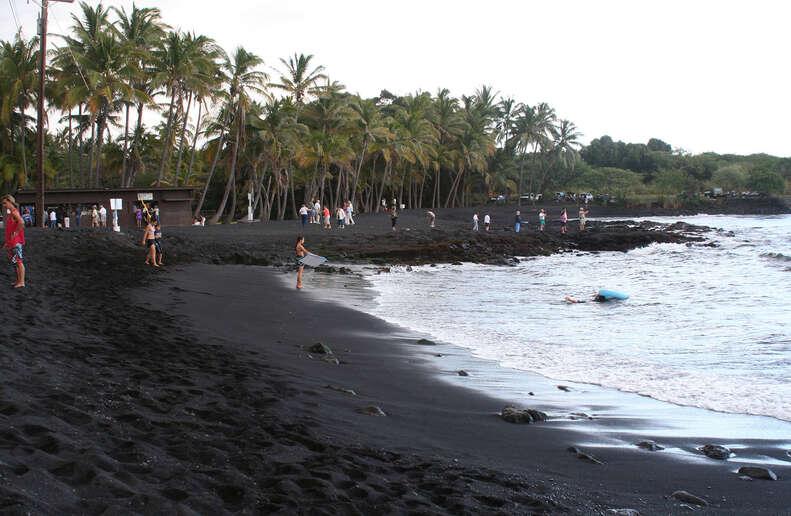 Punalu'u Beach, The Big Island, Hawaii