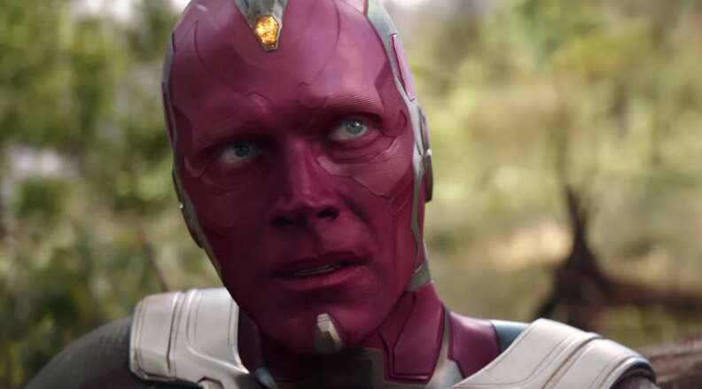vision yellow mind stone avengers infinity war