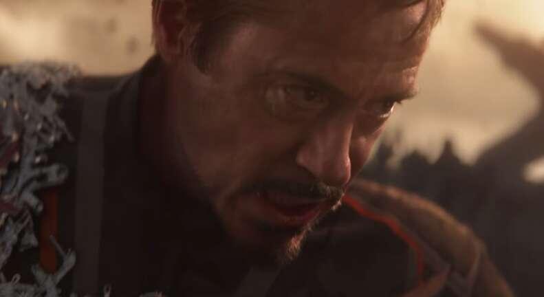 tony stark iron man in avengers infinity war