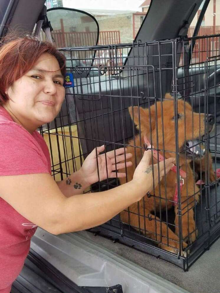 Karla Solis with dog Asher