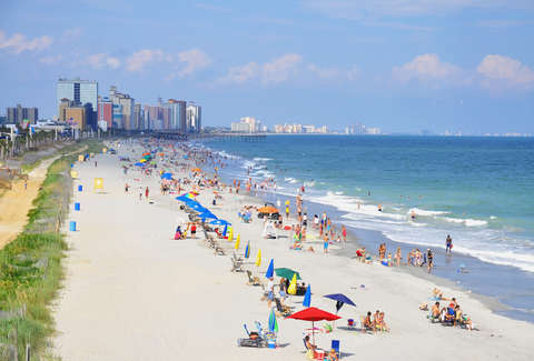 Myrtle Beach Staciestauffsmith Photos Shutterstock Most Vacationers In South Carolina