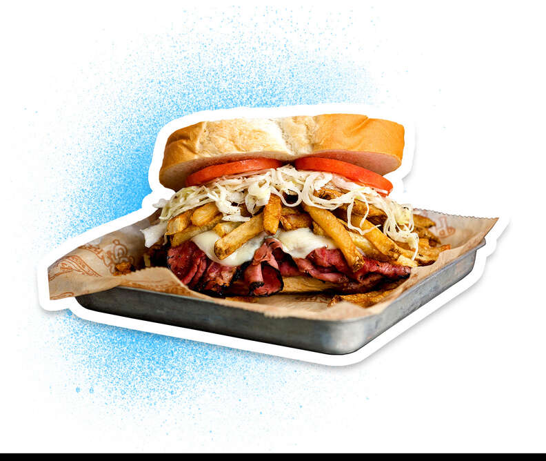 Primanti Bros french fries in sandwiches