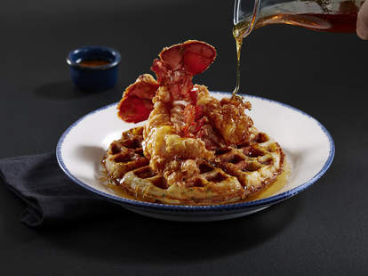 lobster and waffles