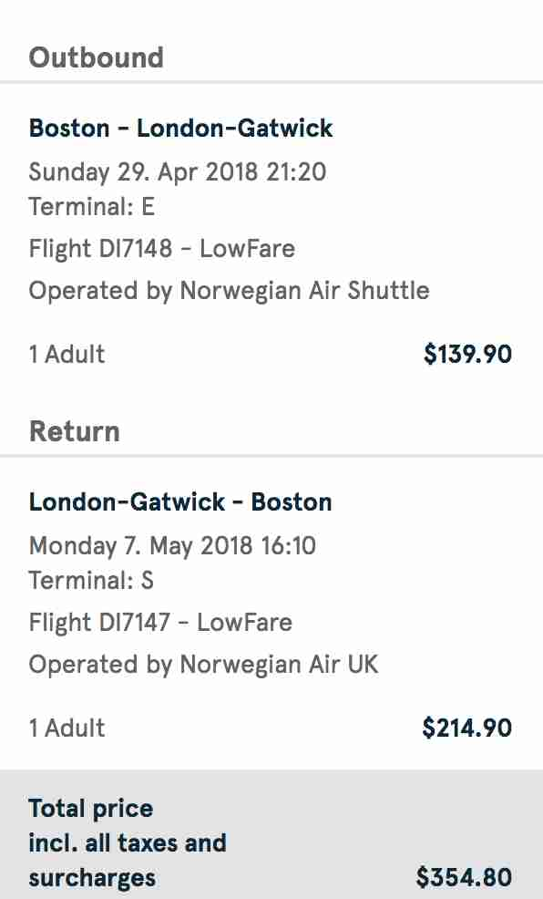 cheap flights London
