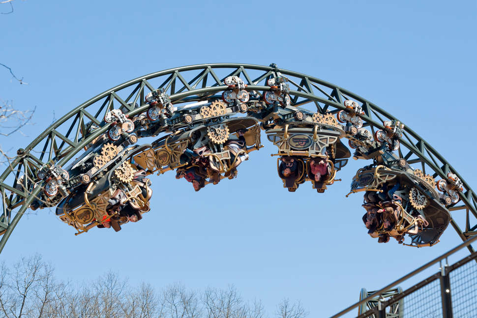 New Time Traveler Spinning Roller Coaster Opens at Silver ...
