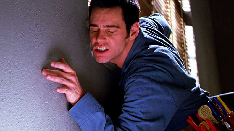 jim carrey in The Cable Guy