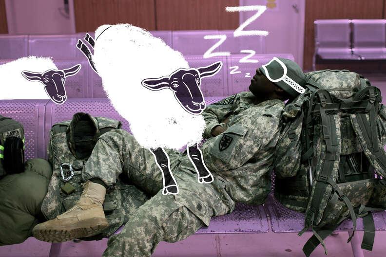 sleeping anywhere