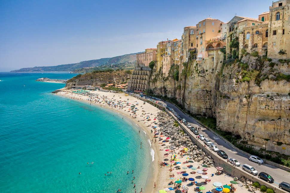 Tropea Beach Calabria Italy Go Grandi Shutterstock