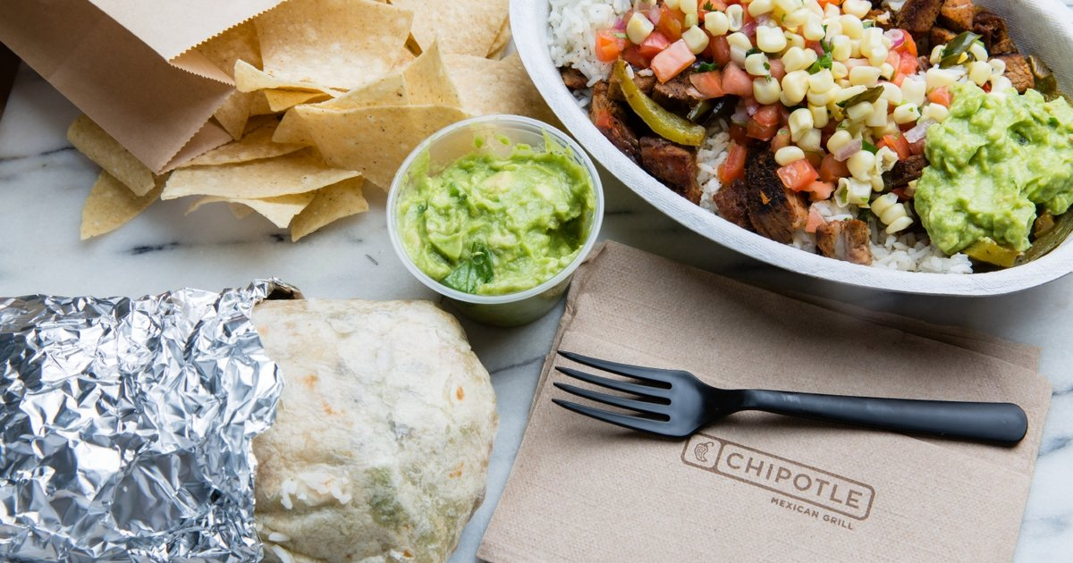 chipotle ranks the states that order the most burritos
