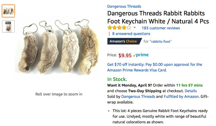 Rabbit Lovers Urge Amazon To Stop Selling Bunny Feet - The Dodo 5a948514edec