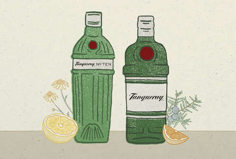 Tanqueray No. TEN Gin vs Tanqueray London Dry Gin - Supercall