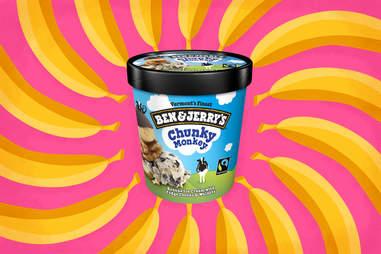 ben and jerrys chunky monkey ice cream pint