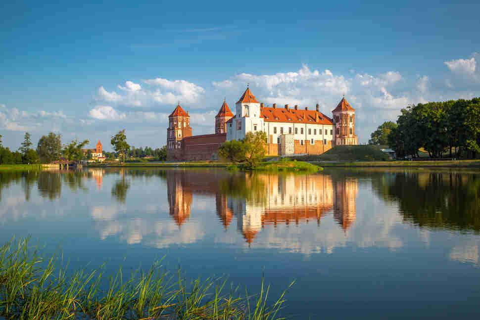 Medieval castle in Mir, Belarus