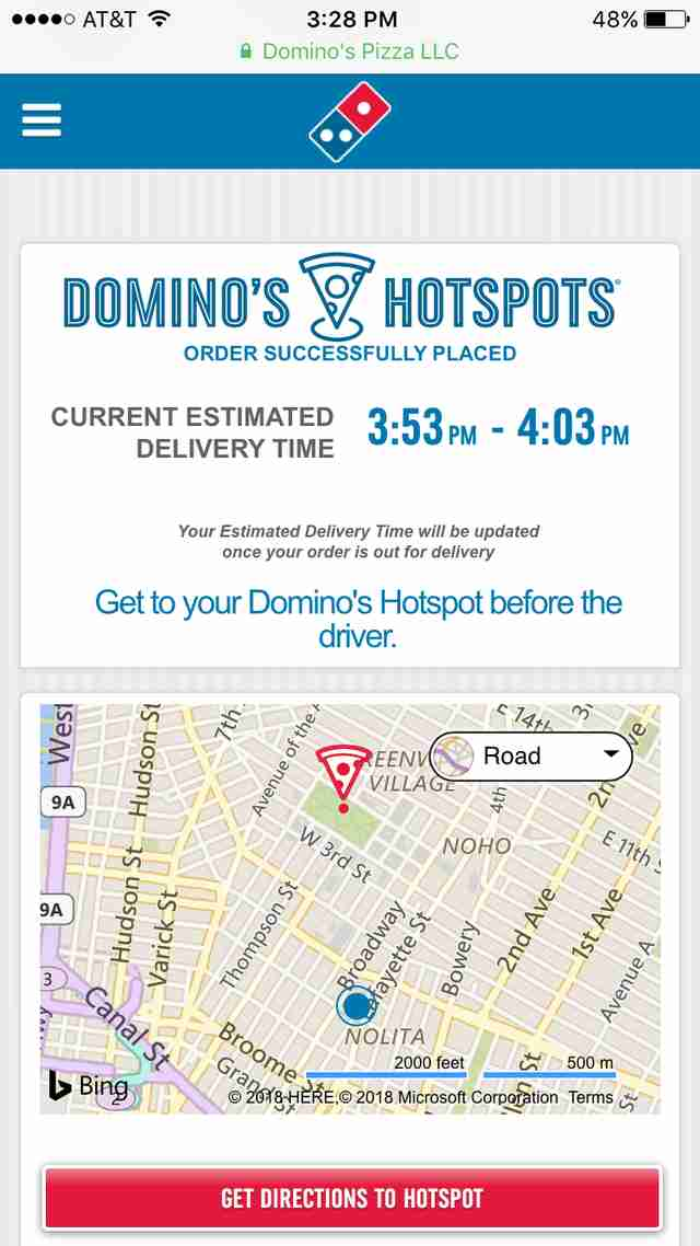Domino's Hotspots Review: New Pizza Ordering System, Tested ... on dominos printable menu, dominos fundraiser form, dominos hours, dominos pizza menu,