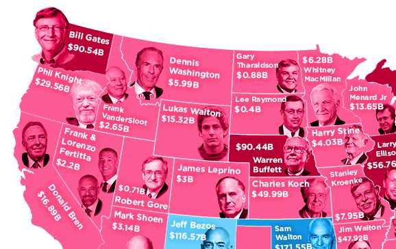 This Map Shows the Richest Person From Every State