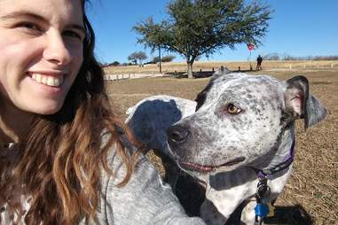 Felicia with dog JoJo