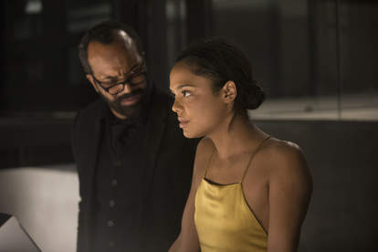 Tessa Thompson and Jeffrey Wright