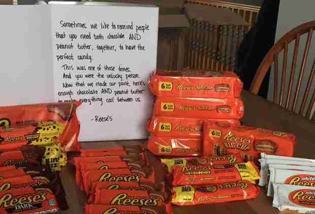Reese's Sends Man Insane Care Package After Disappointing Peanut Butter Cup
