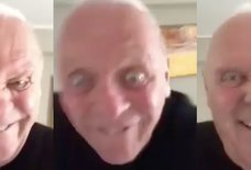 Anthony Hopkins Posted a Bizarre Selfie Video on Twitter & People Are Very Confused