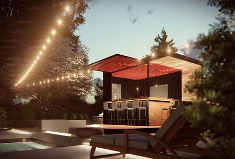 Honomobo Builds Outdoor Pop Up Bar Made Out Of Shipping